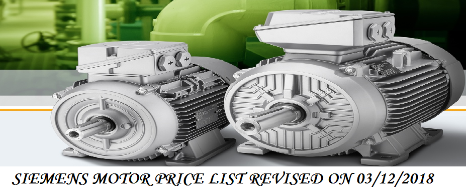 SIEMENS MOTOR PRICE LIST REVISED  03/01/2019